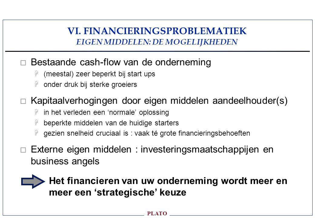 VI. FINANCIERINGSPROBLEMATIEK EIGEN MIDDELEN: DE MOGELIJKHEDEN