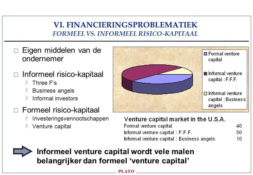 VI. FINANCIERINGSPROBLEMATIEK FORMEEL VS. INFORMEEL RISICO-KAPITAAL