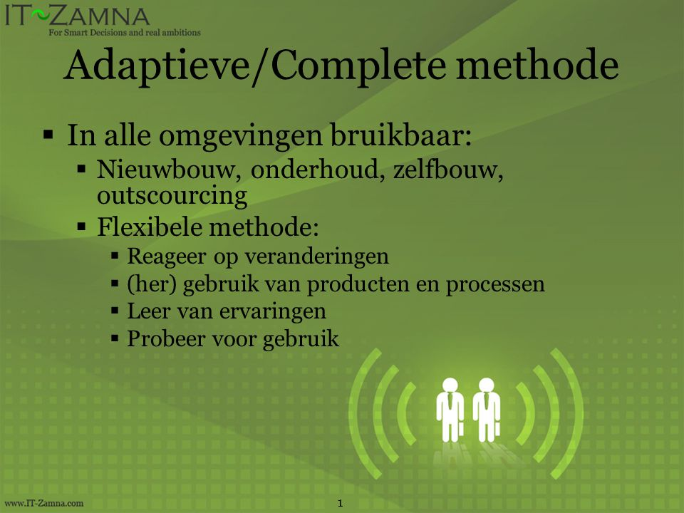 Adaptieve/Complete methode