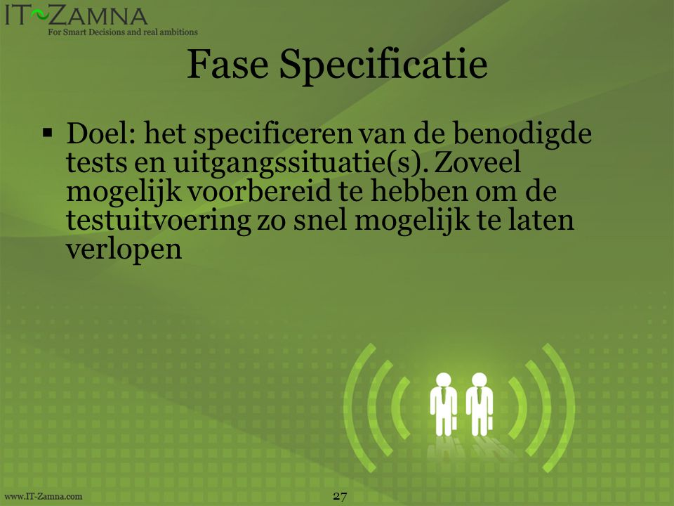 Fase Specificatie