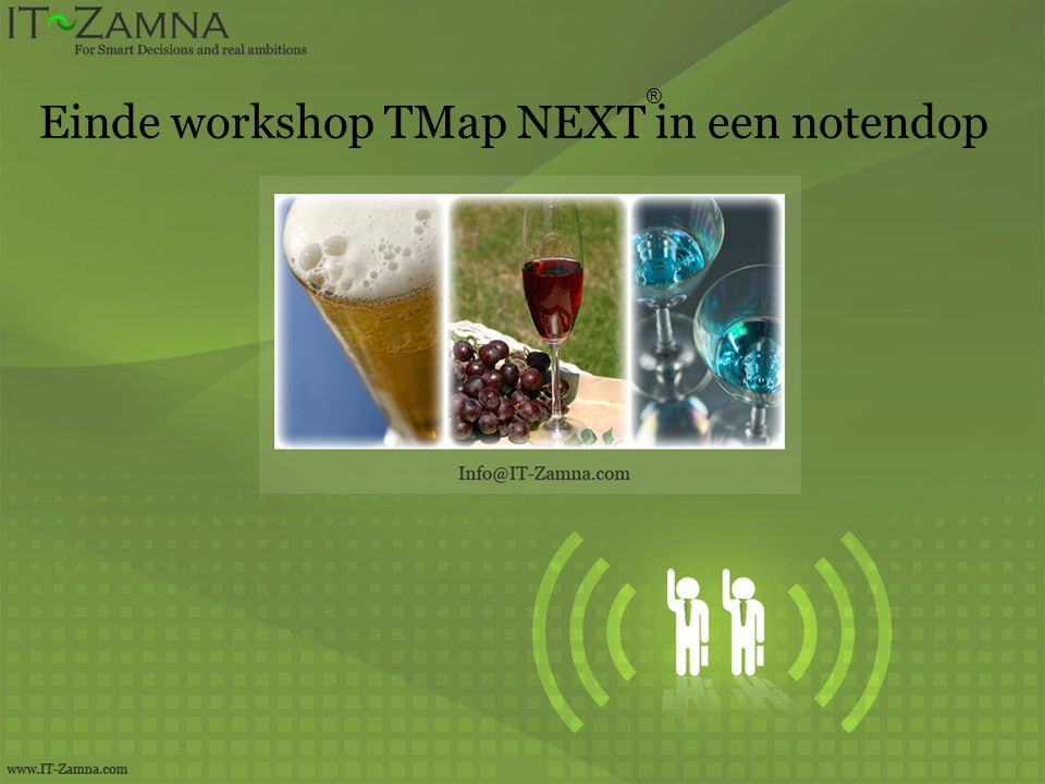 Einde workshop TMap NEXT in een notendop