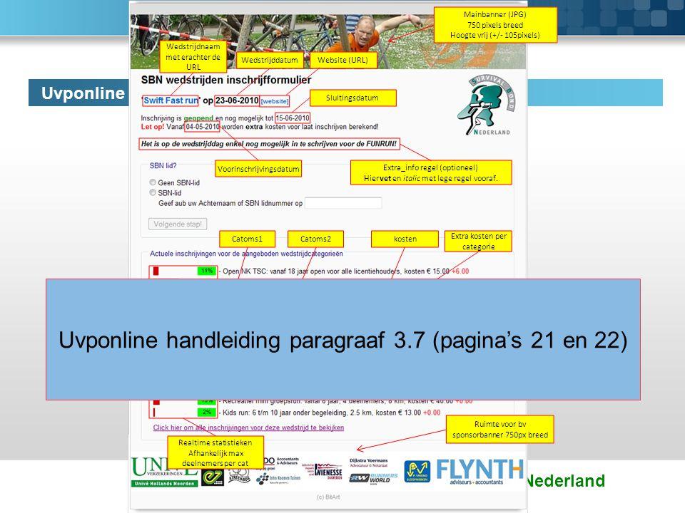 Uvponline handleiding paragraaf 3.7 (pagina's 21 en 22)