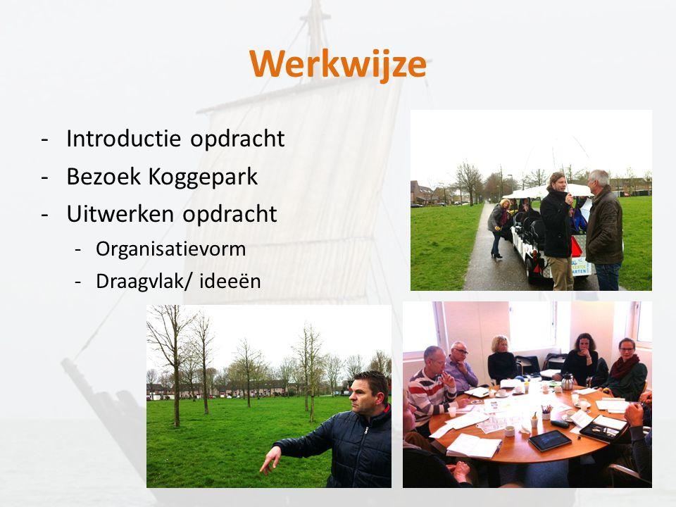 Werkwijze Introductie opdracht Bezoek Koggepark Uitwerken opdracht