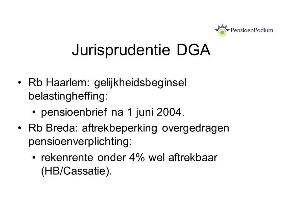 Jurisprudentie DGA Rb Haarlem: gelijkheidsbeginsel belastingheffing: