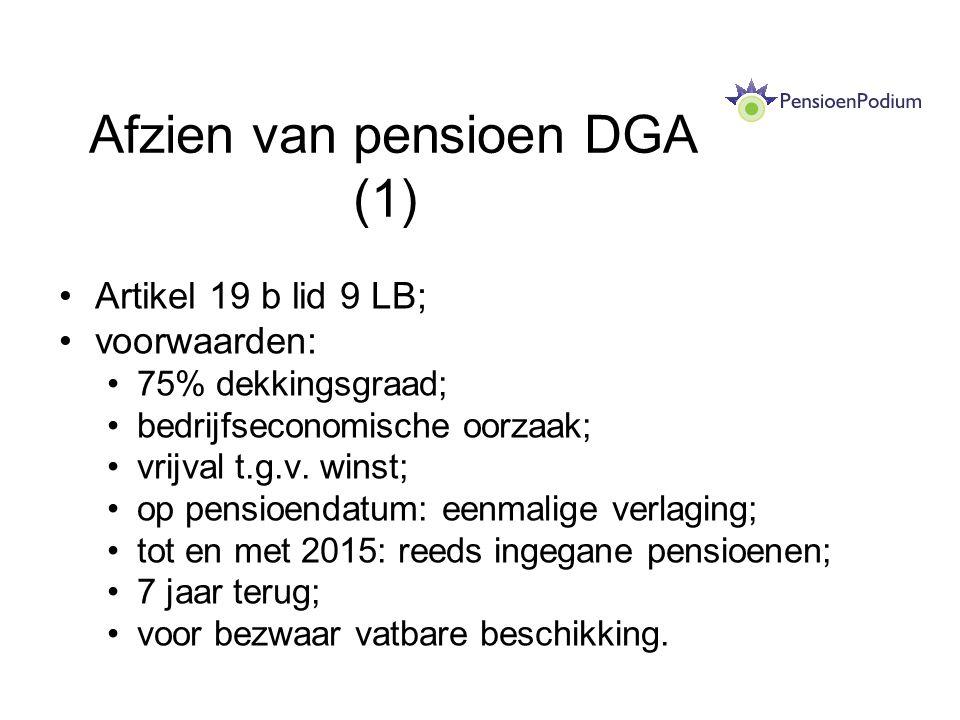 Afzien van pensioen DGA (1)