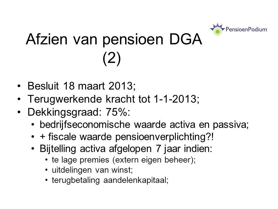 Afzien van pensioen DGA (2)