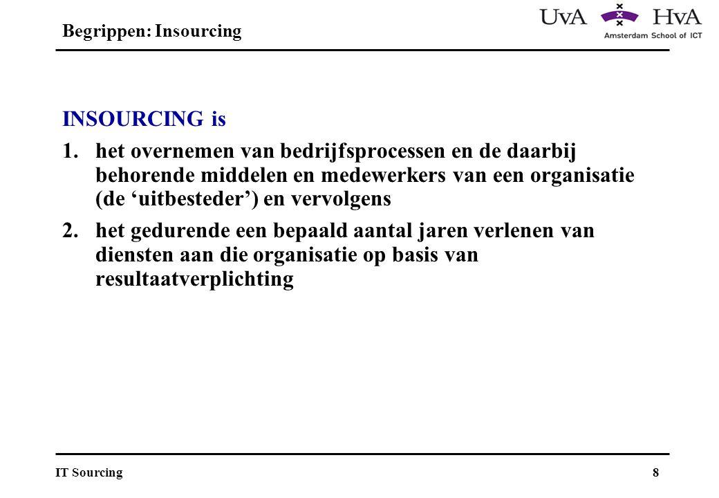 Begrippen: Insourcing
