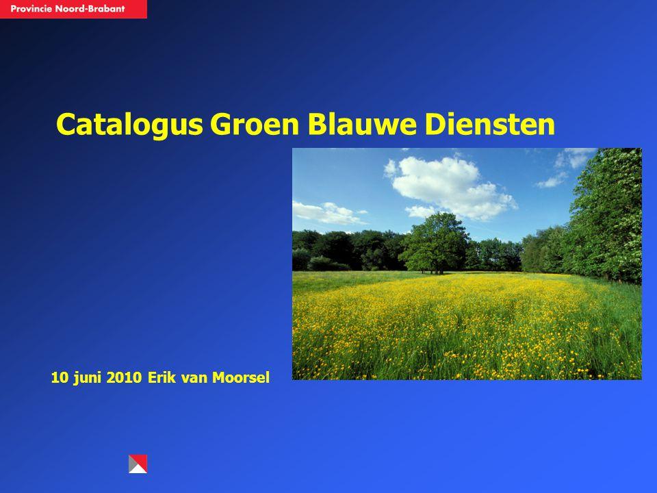 Catalogus Groen Blauwe Diensten