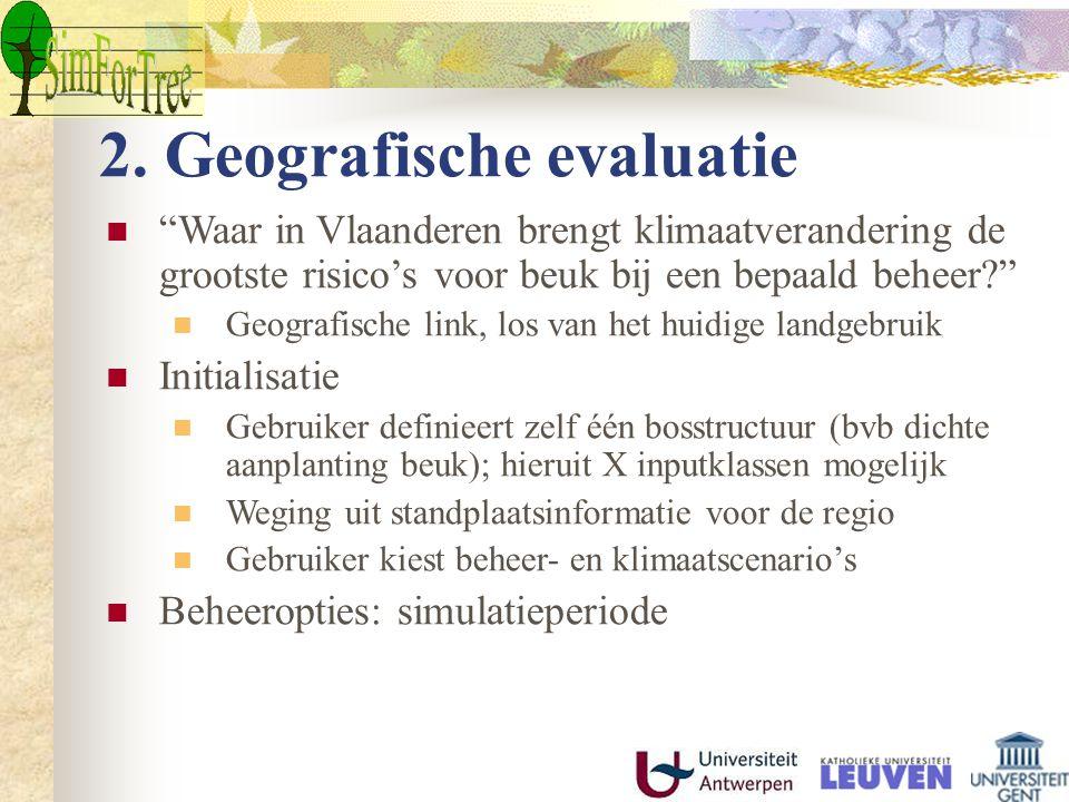 2. Geografische evaluatie