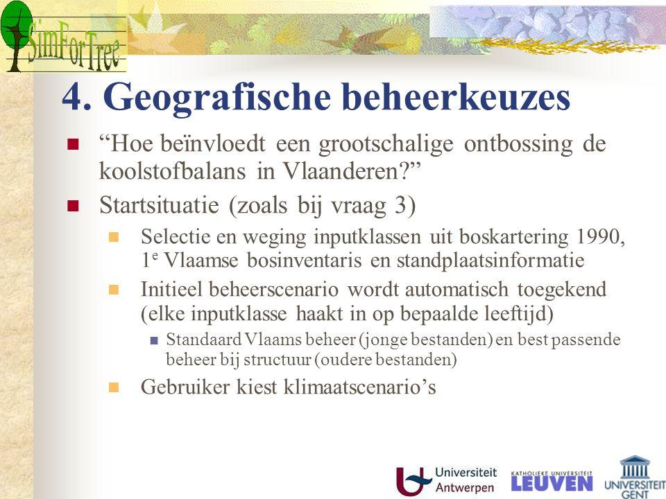 4. Geografische beheerkeuzes