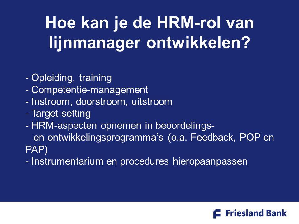 Hoe kan je de HRM-rol van lijnmanager ontwikkelen