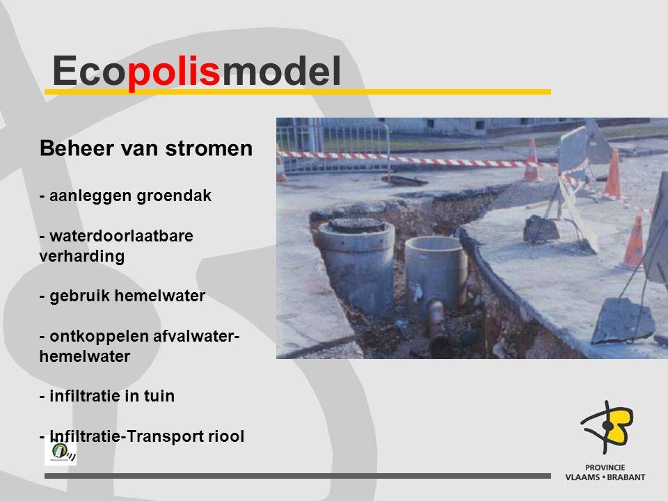 Ecopolismodel Beheer van stromen