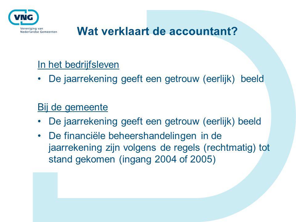 Wat verklaart de accountant