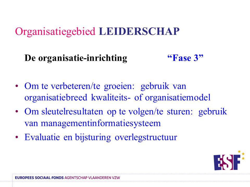 Organisatiegebied LEIDERSCHAP