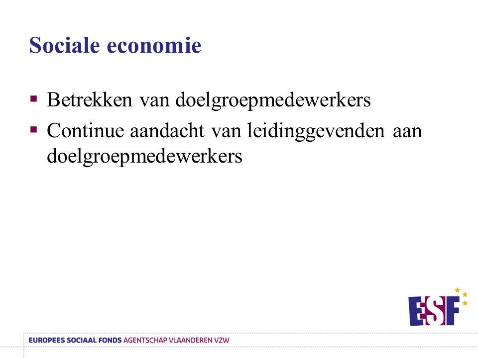 Sociale economie Betrekken van doelgroepmedewerkers