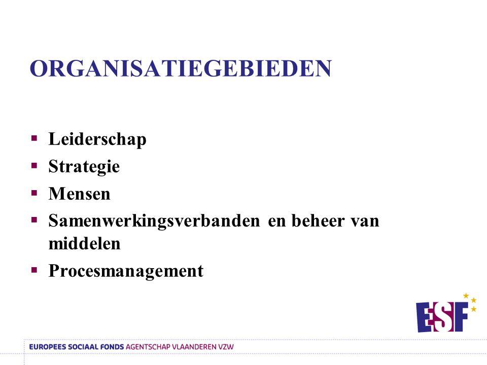 ORGANISATIEGEBIEDEN Leiderschap Strategie Mensen