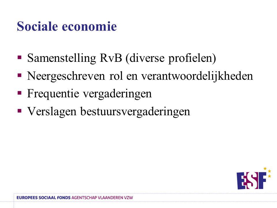 Sociale economie Samenstelling RvB (diverse profielen)