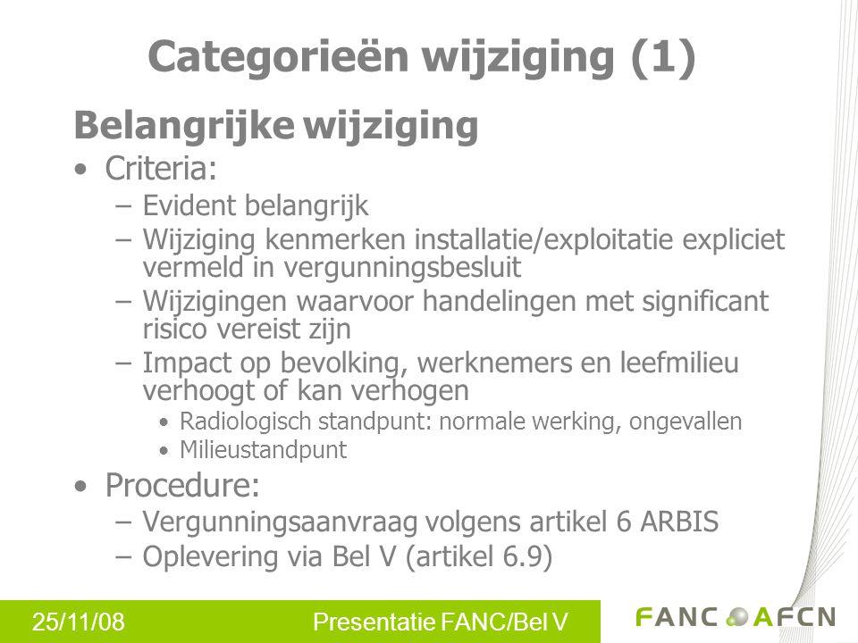 Categorieën wijziging (1)