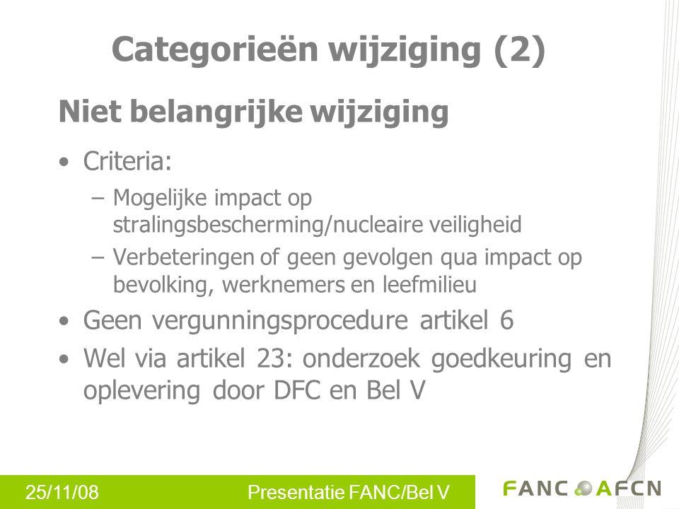 Categorieën wijziging (2)