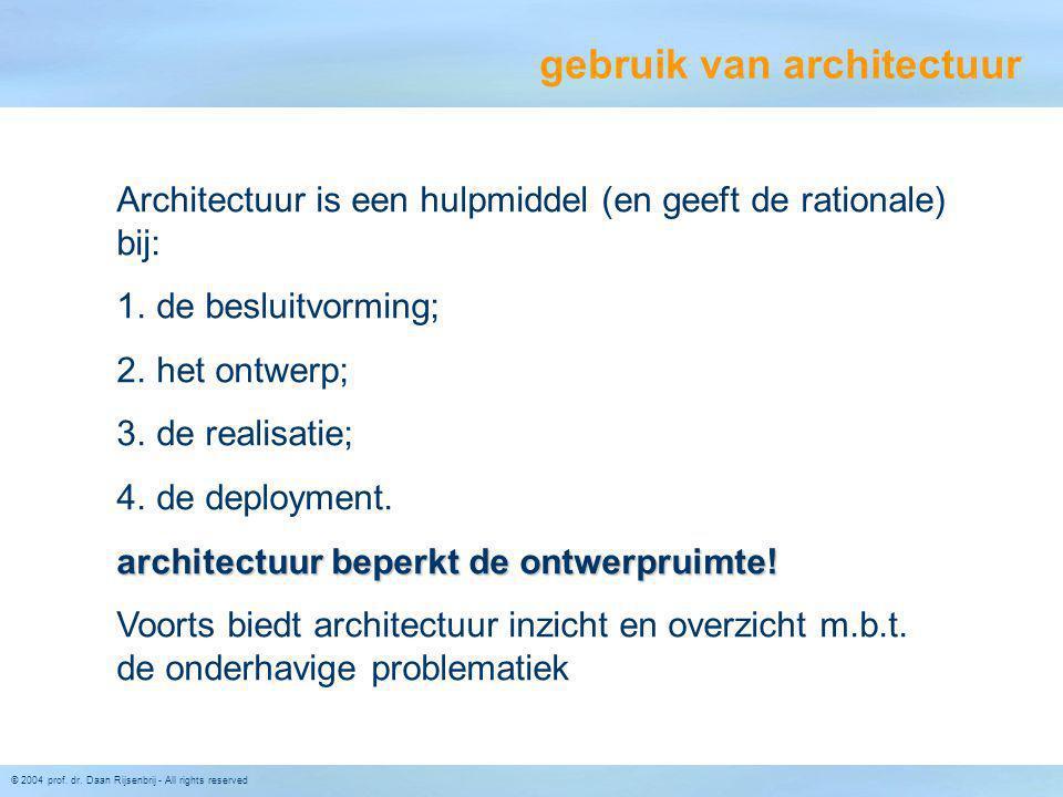 gebruik van architectuur