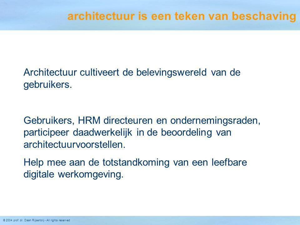 architectuur is een teken van beschaving
