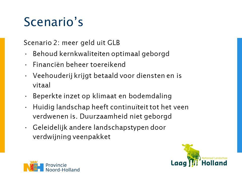 Scenario's Scenario 2: meer geld uit GLB