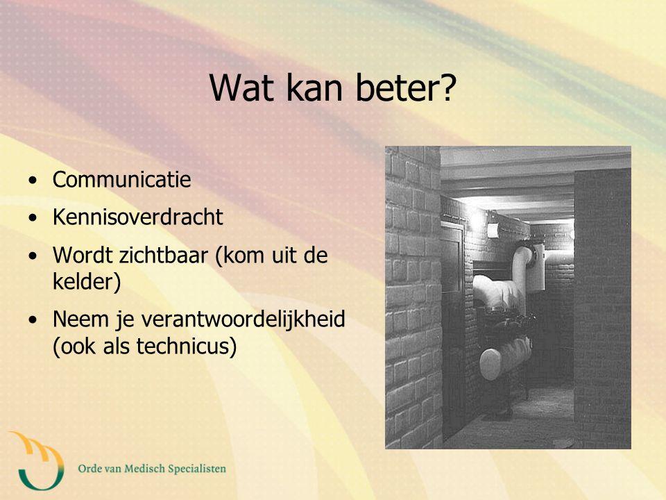 Wat kan beter Communicatie Kennisoverdracht