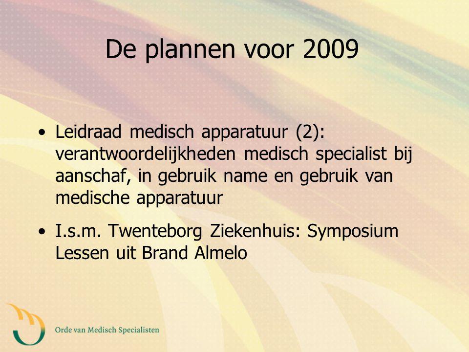 De plannen voor 2009