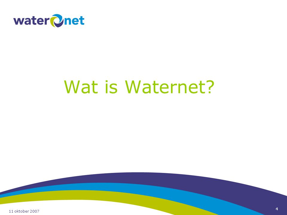 Wat is Waternet 11 oktober 2007