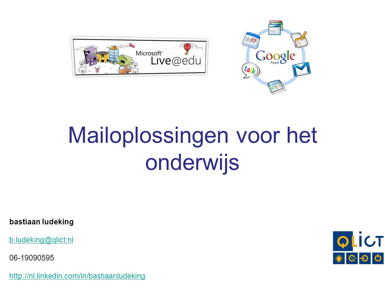Mailoplossingen voor het onderwijs