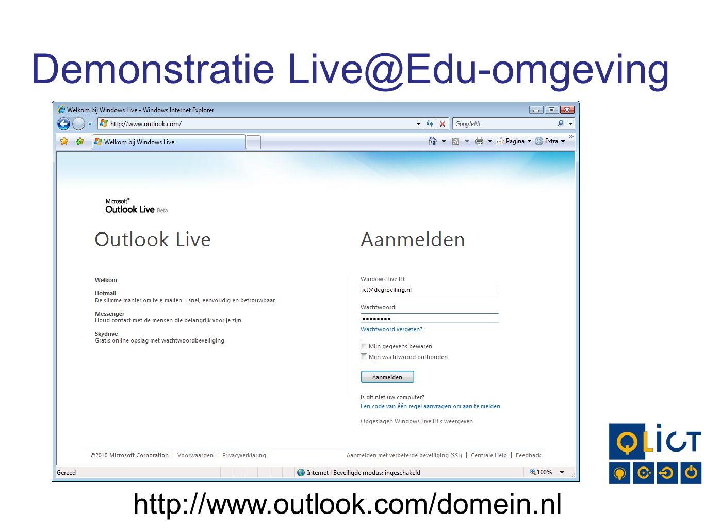 Demonstratie Live@Edu-omgeving