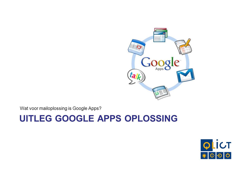 Uitleg Google Apps oplossing