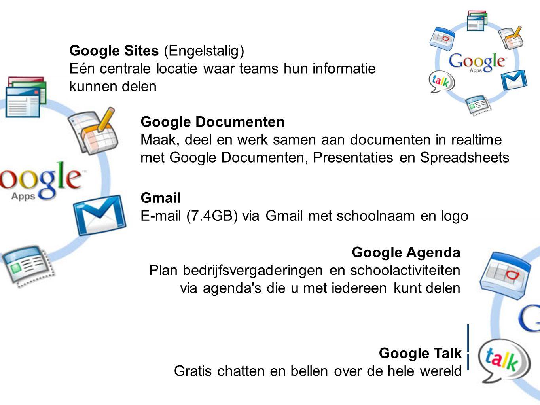 Google Sites (Engelstalig) Eén centrale locatie waar teams hun informatie kunnen delen
