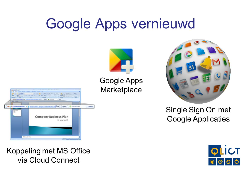 Google Apps vernieuwd Google Apps Marketplace