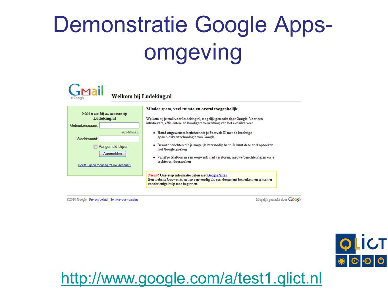 Demonstratie Google Apps-omgeving