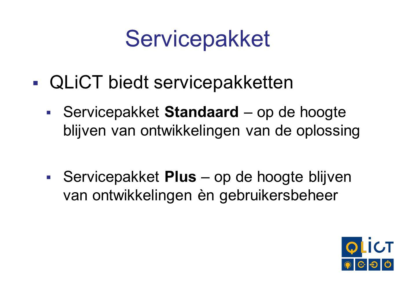 Servicepakket QLiCT biedt servicepakketten
