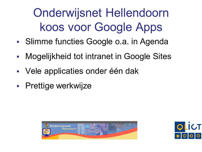 Onderwijsnet Hellendoorn koos voor Google Apps