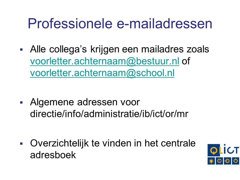 Professionele e-mailadressen