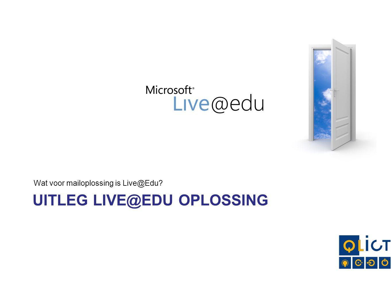 Uitleg Live@Edu oplossing