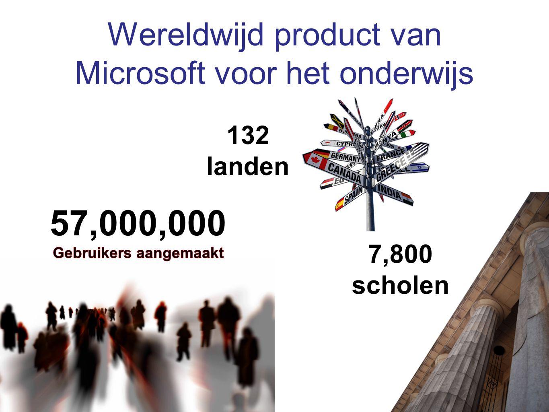 Wereldwijd product van Microsoft voor het onderwijs