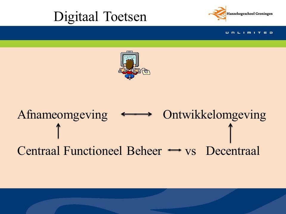 Digitaal Toetsen Afnameomgeving Ontwikkelomgeving