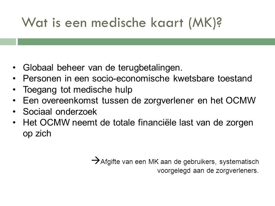 Wat is een medische kaart (MK)