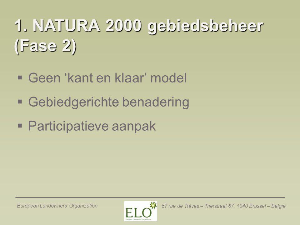 1. NATURA 2000 gebiedsbeheer (Fase 2)
