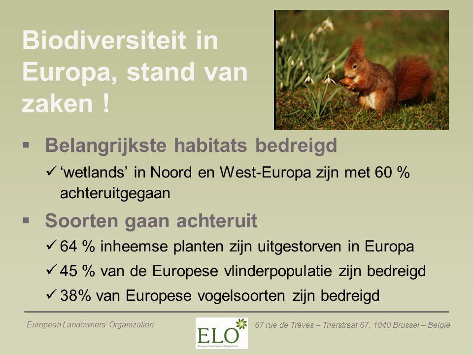 Biodiversiteit in Europa, stand van zaken !