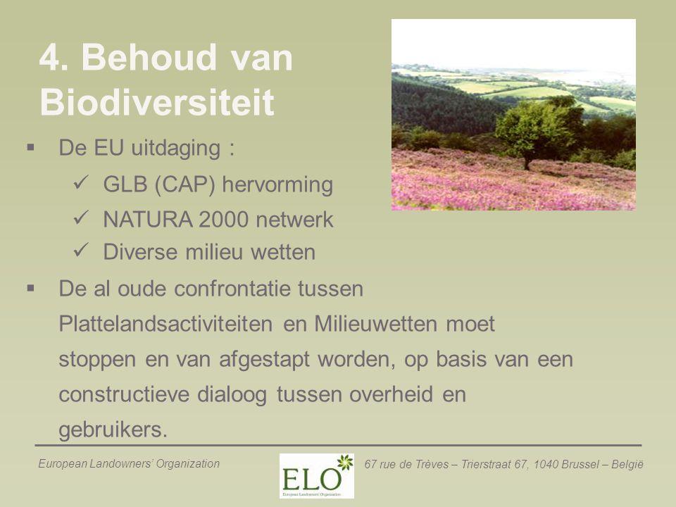 4. Behoud van Biodiversiteit