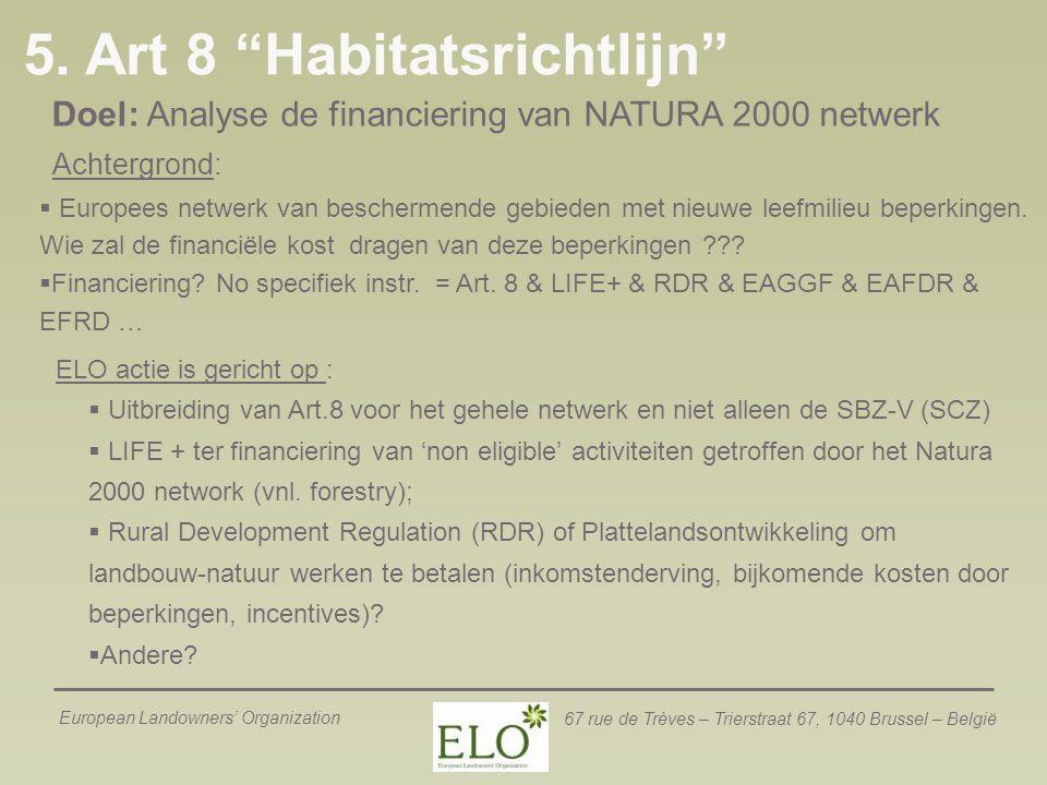 5. Art 8 Habitatsrichtlijn
