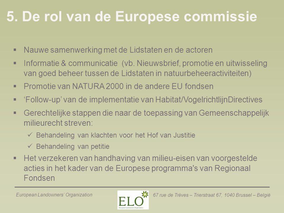 5. De rol van de Europese commissie