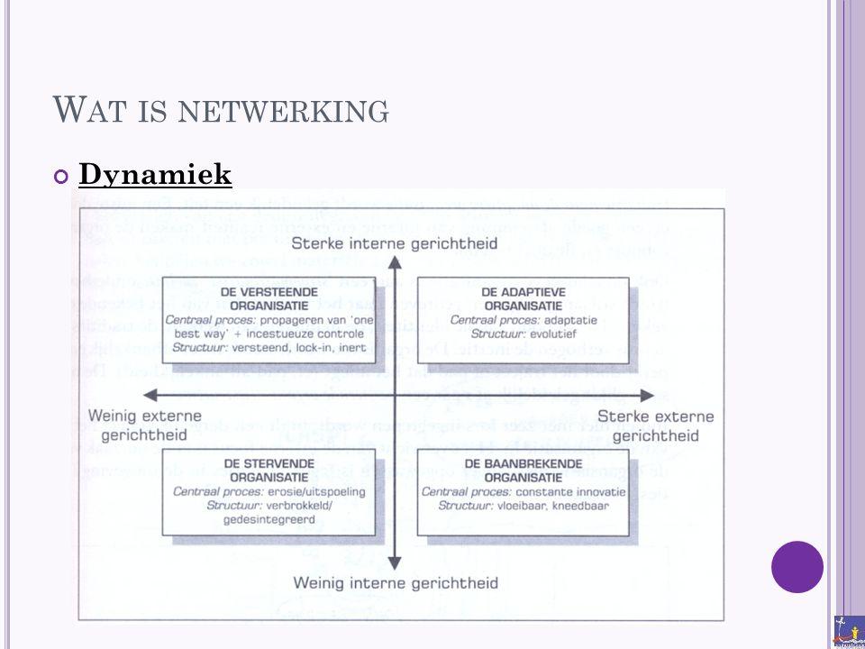 Wat is netwerking Dynamiek