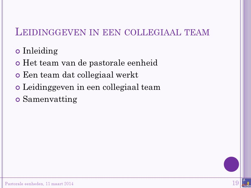 Leidinggeven in een collegiaal team