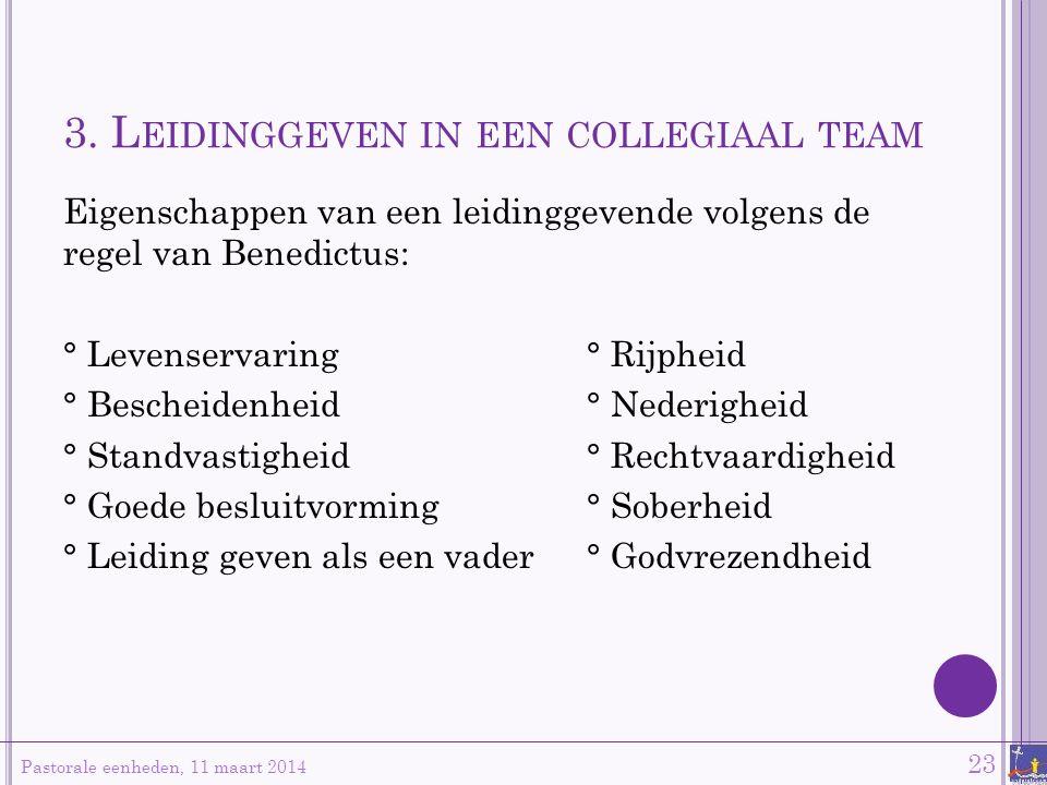 3. Leidinggeven in een collegiaal team